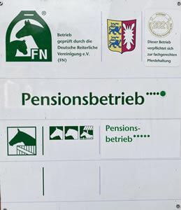 Pensionsbetrieb fuer Pferde